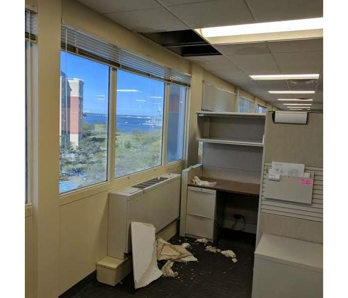 Water Damage in Administration Offices Before